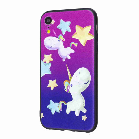 Husa iPhone XR 6.1'' Printing Embossed Unicorn and Star