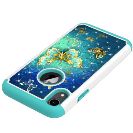 Husa iPhone XR 6.1'' Printing Rhinestone - Gold Butterfly