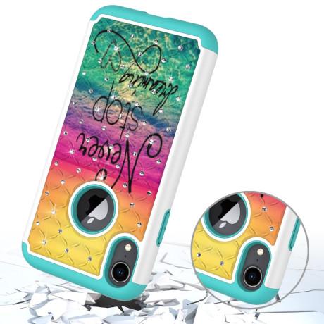 Husa iPhone XR 6.1'' Printing Rhinestone - Never Stop Dreaming