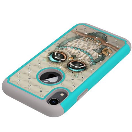 Husa iPhone XR 6.1'' Printing Rhinestone - Owl