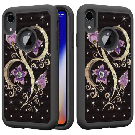 Husa iPhone XR 6.1'' Printing Rhinestone - Vivid Flower