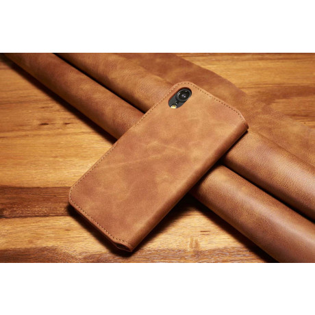 Husa iPhone XR 6.1'' Retro Style Leather, Dg.Ming Maro