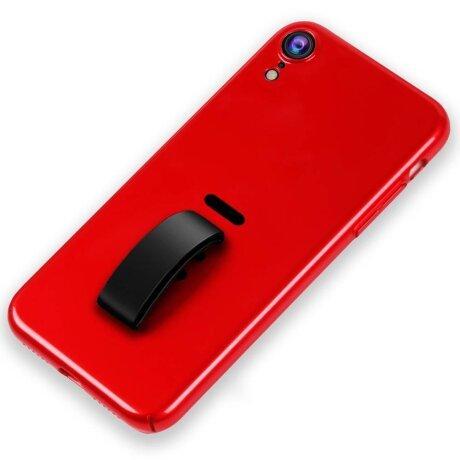 Husa iPhone XR Silicone Finger Grip Rosu Howmak