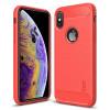 Husa iPhone XS 5.8'' Carbon Fiber Mofi, Rosie