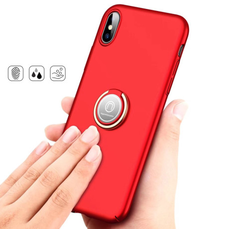 Husa iPhone XS 5.8'' Magnetic Adsorption Kickstand, Rosie