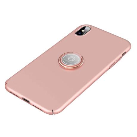 Husa iPhone XS 5.8'' Magnetic Adsorption Kickstand, Roz Gold