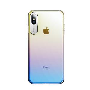 Husa iPhone Xs Rock Aluminium, Albastra