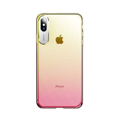 Husa iPhone Xs 5.8'' Rock Aluminium Rosie