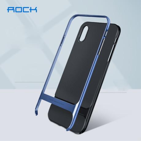 Husa iPhone XS 5.8'', Royce Series, Rock, Albastra
