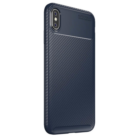 Husa  iPhone XS Max 6.5'', Beetle Series Carbon Fiber, Albastra