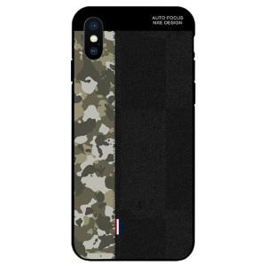 Husa iPhone XS Max Camouflage Pattern NXE, Neagra