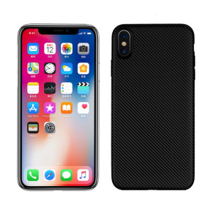 Husa iPhone XS Max Carbon Fiber Texture Neagra