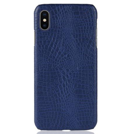 Husa iPhone XS Max Crocodile Texture Albastra