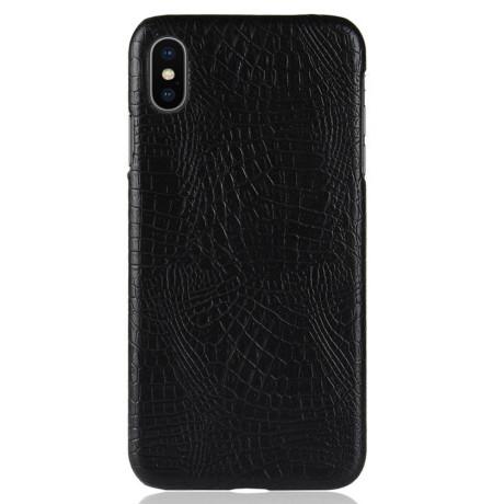 Husa iPhone XS Max 6.5'' Crocodile Texture Neagra