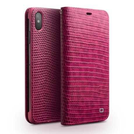 Husa iPhone XS Max 6.5'' Crocodile Texture Qialino Roz