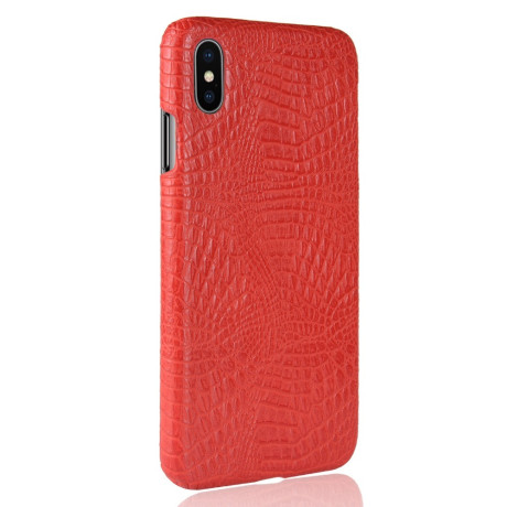 Husa iPhone XS Max 6.5'' Crocodile Texture Rosie