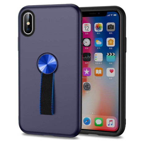 Husa iPhone XS Max 6.5'' Finger Ring, Albastra