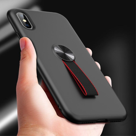 Husa iPhone XS Max 6.5'' Finger Ring, Neagra