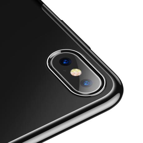 Husa iPhone XS Max Glitter Electroplated, Baseus Neagra
