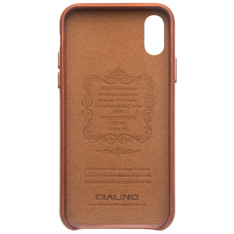 Husa iPhone XS Max 6.5'' Leather Back Case Qialino Maro