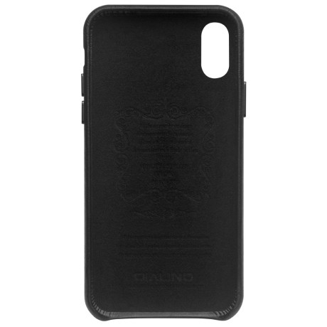 Husa iPhone XS Max 6.5'' Leather Back Case Qialino Neagra