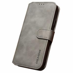 Husa iPhone XS Max Retro Style Leather, Dg. Ming  Gri