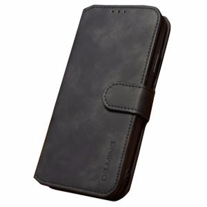 Husa iPhone XS Max Retro Style Leather, Dg.Ming Neagra