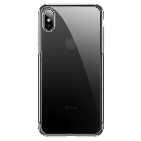 Husa iPhone XS Max 6.5'',Shining Series, Argintie, Baseus