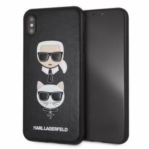 Husa iPhone XS Max Karl Lagerfeld & Choupette Hard Case PU Negru