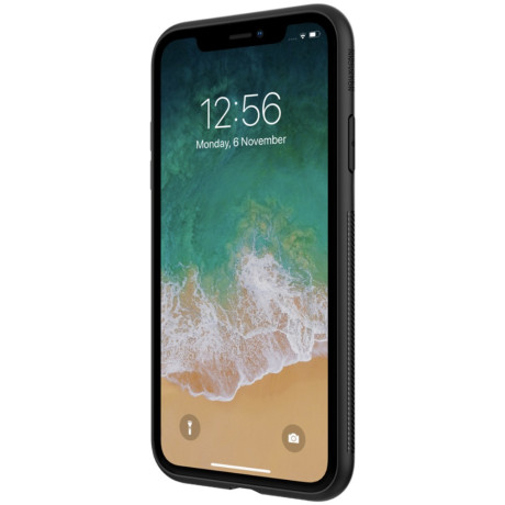 Husa iPhone XS Max Synthetic Fiber Negru Nillkin