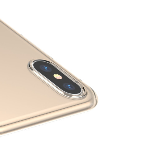 Husa iPhone XS/X 5.8'' Simplicity Transparent gold Baseus