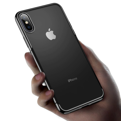 Husa iPhone XS/X 5.8'',Shining Series, Neagra, Baseus