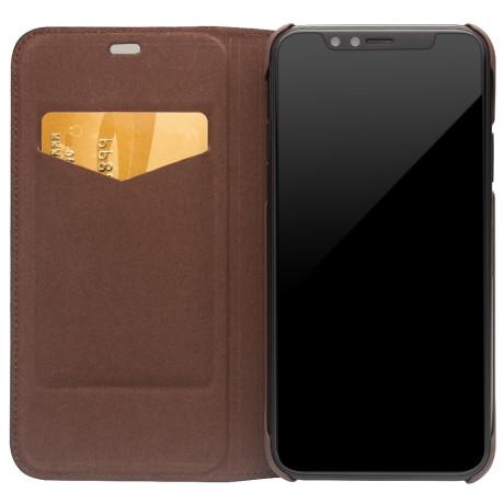 Husa iPhone X/Xs 5.8'' Auto Absorbed Qialino Maro Inchis