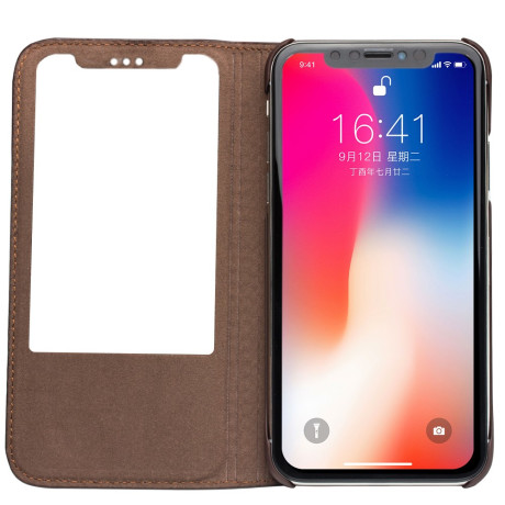 Husa iPhone X/Xs Business View Window Qialino Maro
