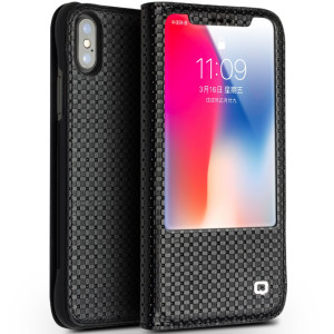 Husa iPhone X/Xs 5.8'' Business View Window Qialino Neagra
