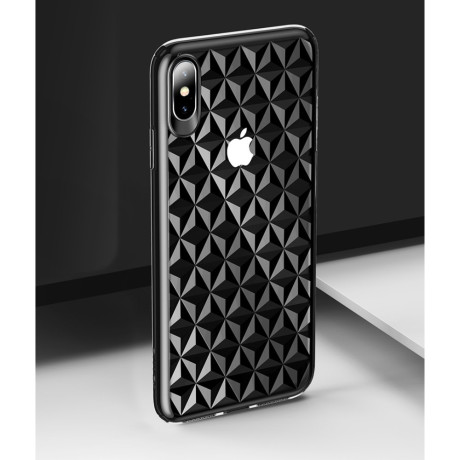 Husa iPhone X/XS 5.8'' Diamond Pattern Neagra Usams