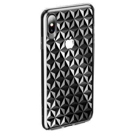 Husa iPhone X/Xs 5.8'' Diamond Pattern Transparenta Usams