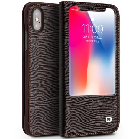 Husa iPhone X/Xs 5.8'' Lizard Texture Qialino Maro