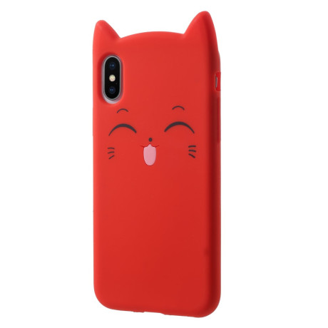 Husa iPhone X/XS 5.8'' Mustache Silicon 3D Rosie
