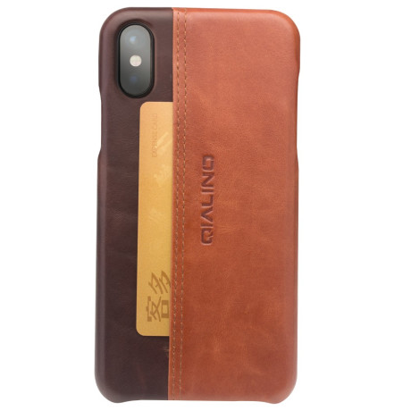 Husa iPhone X/Xs 5.8'' Qialino Horizontal Style Maro