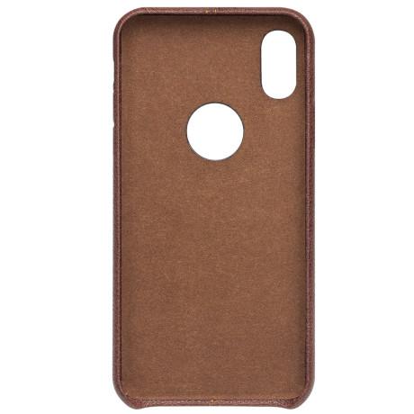 Husa iPhone X/Xs Qialino Leather Back Case Maro