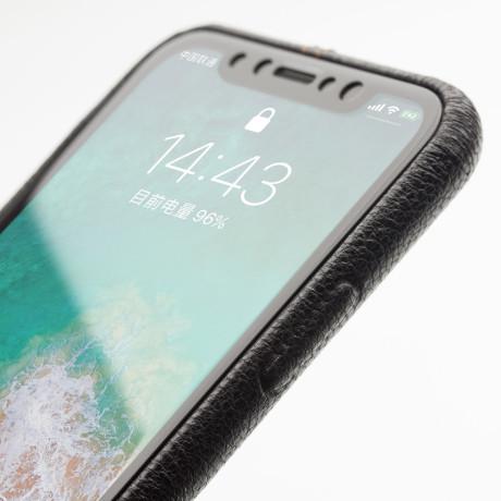 Husa iPhone X/Xs  Qialino Leather Back Case Neagra