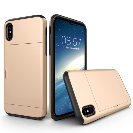 Husa iPhone X/Xs 5.8'' Sliding Card Holder Aurie