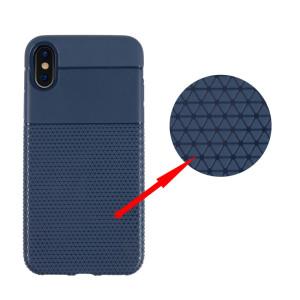 Husa iPhone X/Xs Triangle Pattern Albastra