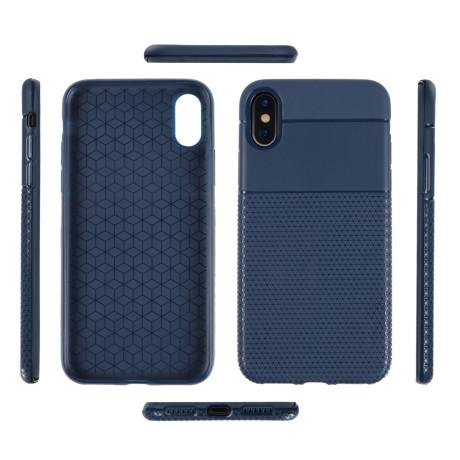 Husa iPhone X/Xs 5.8'' Triangle Pattern Albastra