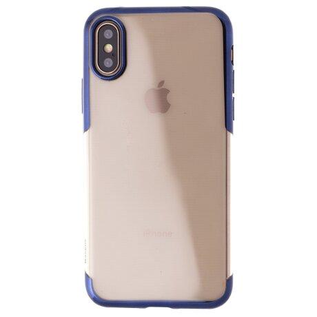 Husa iPhone X/XS Shining , Baseus Albastra