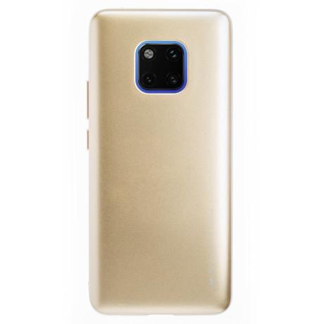 Husa Jelly Metal Huawei Mate 20 Pro Auriu