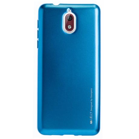 Husa Jelly Metal Nokia 3.1, Goospery Albastru