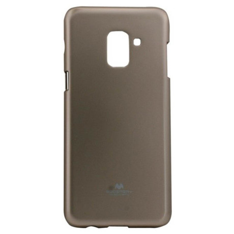 Husa Jelly Metal Samsung Galaxy A8 2018 Auriu Goospery