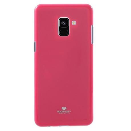 Husa Jelly Metal Samsung Galaxy A8 2018 Roz Goospery